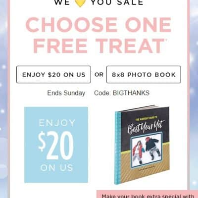 Shutterfly Promo Code: FREE Photo Book or Save $20 off $20 Order!
