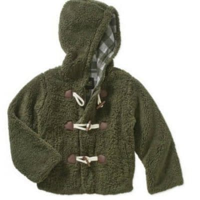 Little Boys' Sherpa Duffle Jacket only $5, Free Shipping Eligible!