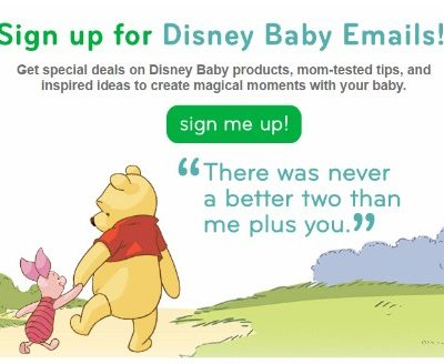 Sign Up to Receive Coupons, Special offers and More from Disney Baby!