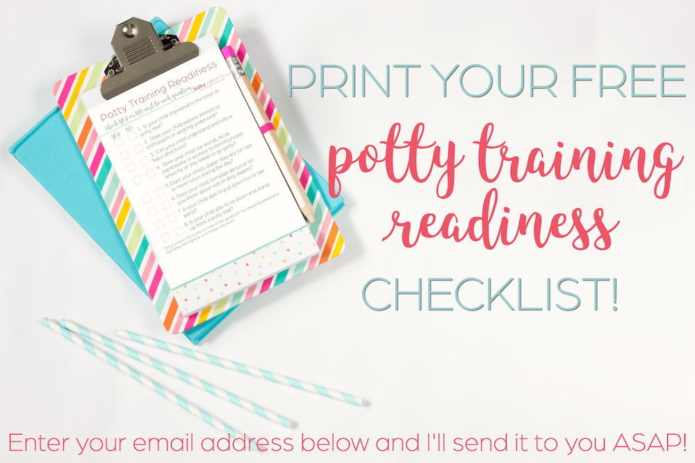 potty training readiness checklist on a clipboard