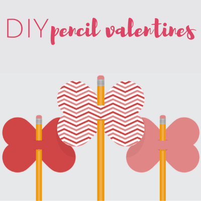 Free Printable DIY Pencil Valentines