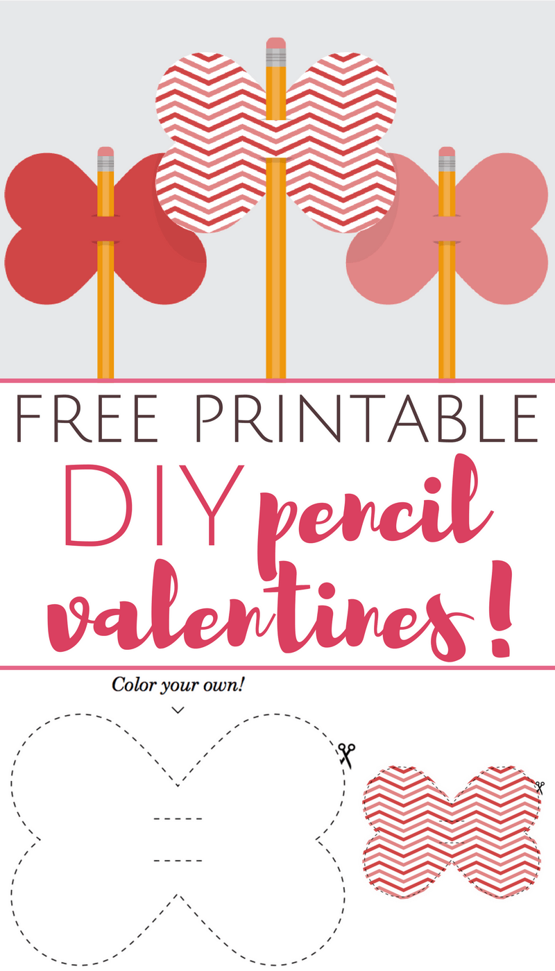 printable DIY pencil valentines