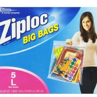 Large Ziploc Big Bag 5-Count only $3.25, Free Shipping Eligible!