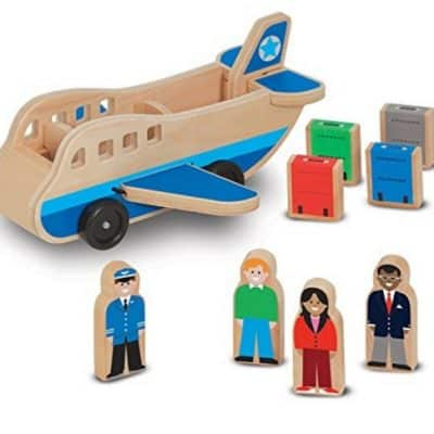 Save Up to 30% on the Melissa & Doug Wooden Airplane Play Set or Wooden School Bus Play Set, Free Shipping Eligible!