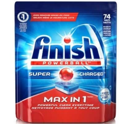 Save on Finish Max in 1 Fresh Automatic Dishwasher Detergent Tablets (74-count only $7.79), Free Shipping Eligible!