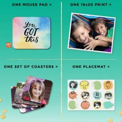 Shutterfly Promo Code: 2 FREE Gifts – Choose from Placemat, a Set of Coasters, a 16×20 Print or a Mouse Pad!