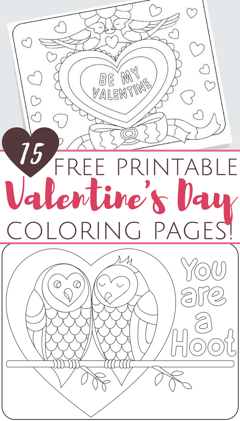 Free Printable Valentine\'s Day Coloring Pages for Adults and Kids