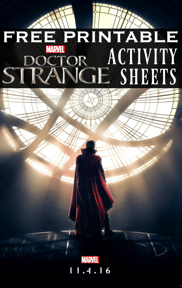 doctor strange activity sheets