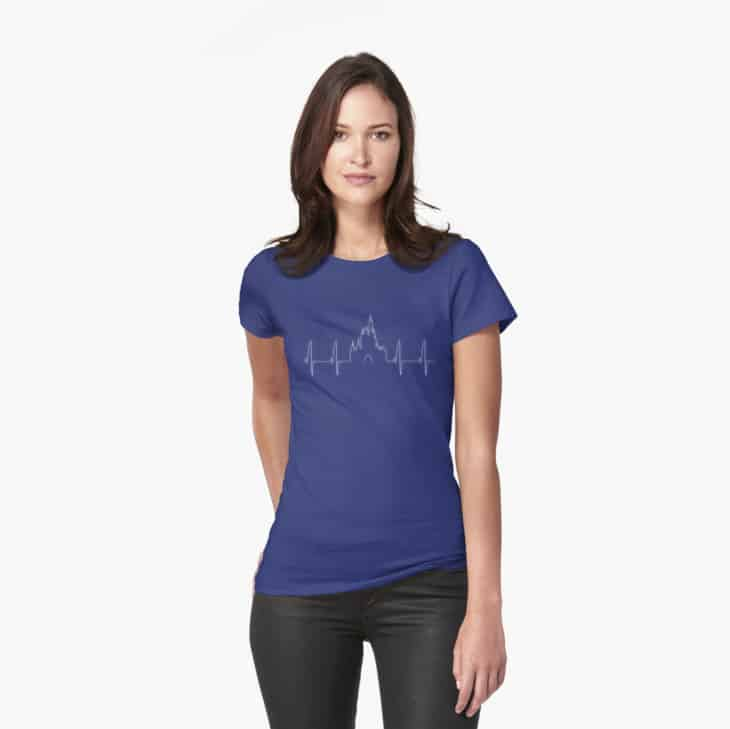 Unique Disney shirt heartbeat