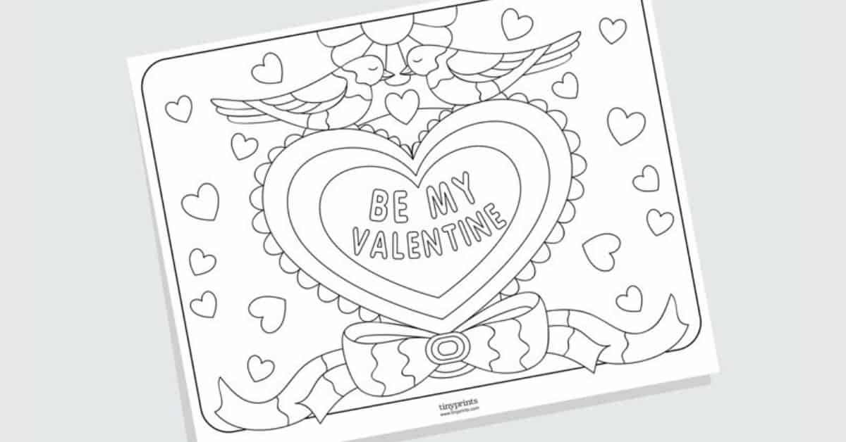 Free Printable Valentine's Day Coloring Pages For Adults And Kids Baby  Savers Babysavers.com