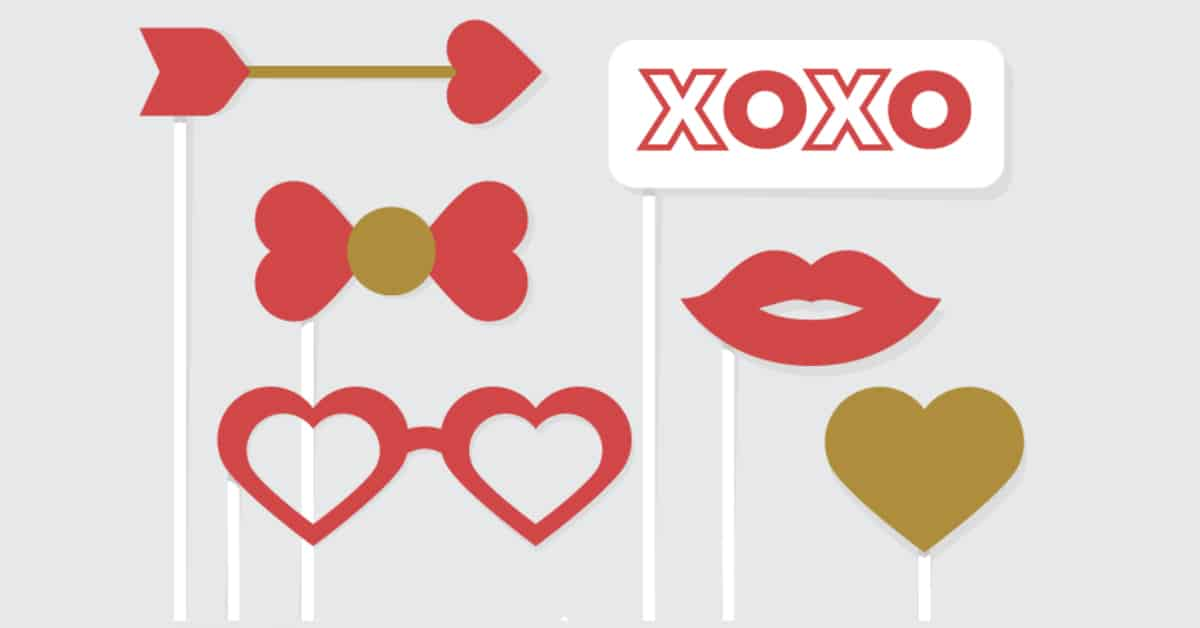 Free Printable Valentine's Day Photo Booth Props