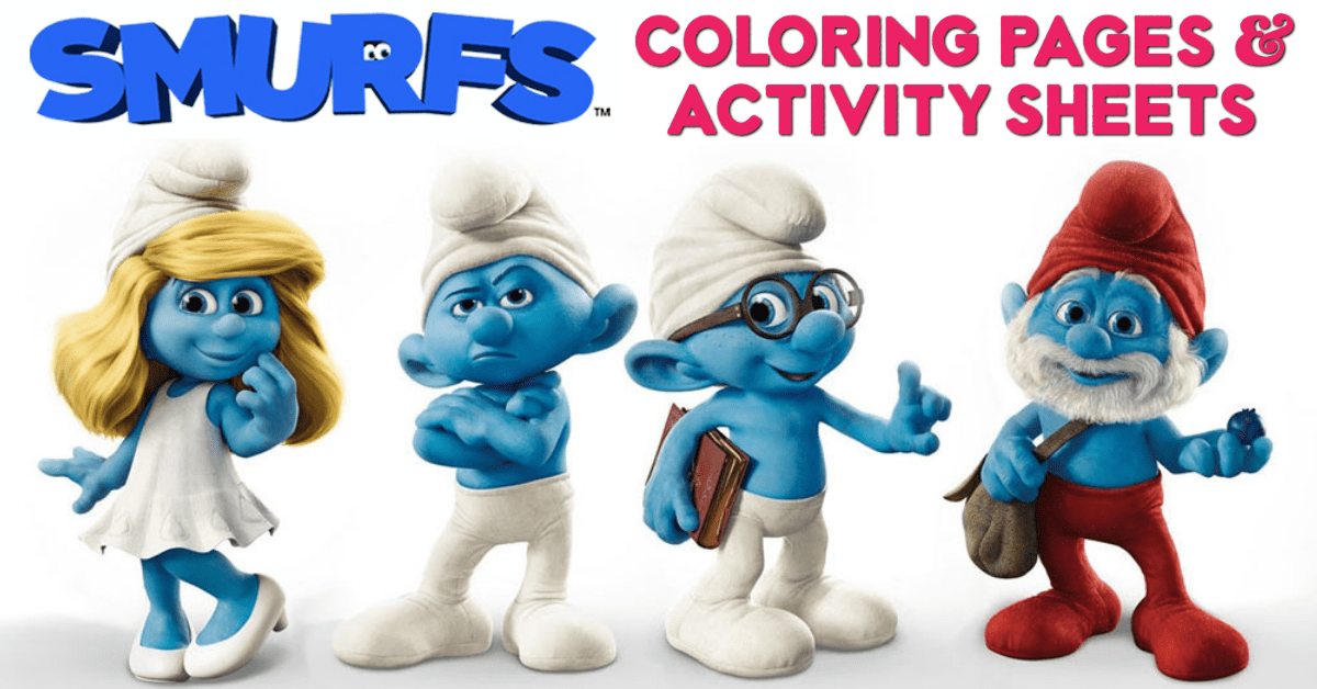 Free Printable Smurfs Coloring Pages, Activity Sheets