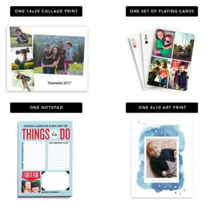 Shutterfly Choose Any Two for Free: Notepad, 16×20 Collage Print, 8×10 Art Print, or Playing Cards!