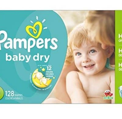 Pampers Baby Dry Diapers 128 Count only $14.40, Free Shipping Eligible!