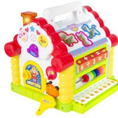 Save 70% on the Kids Activity Toy Learning Cottage with Music, Lights, Games, Animal Shape Cubes, Free Shipping Eligible!
