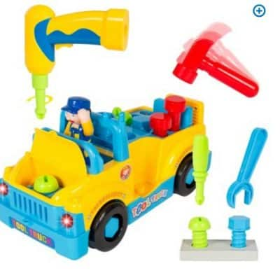 Save 72% on the Bump'n'Go Toy Truck With Electric Drill and Various Tools, Lights and Music, Free Shipping Eligible!