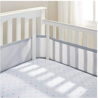 Save 31% on the BreathableBaby Mesh Crib Liner-Gray Mist, Free Shipping Eligible!