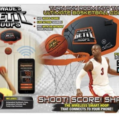 Save 60% on D.Wade's Get It Hoops Interactive Backboard with Live Action Sounds!