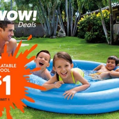 Intex Inflatable Kiddie Pool only $1 Today Only! {Plus Disney Movies Starting at $2, $1 Easter Basket Fillers and More!}