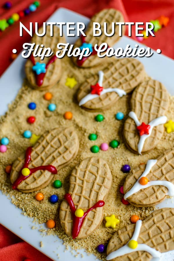 flip flop cookies for polynesian luau