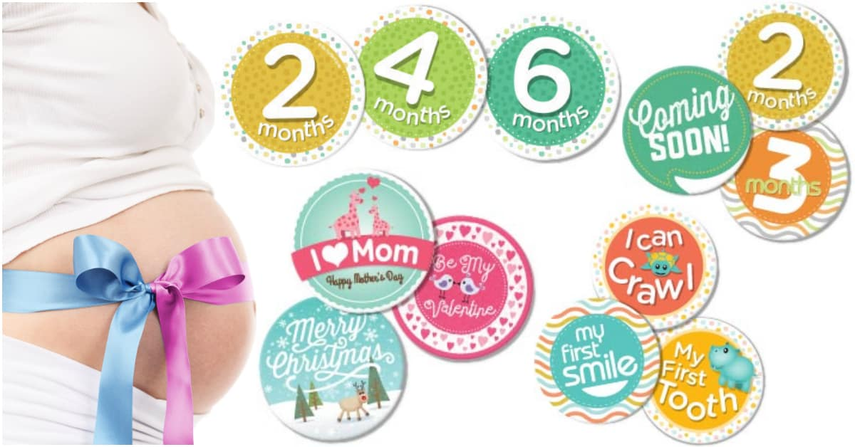 Free Baby Milestone Stickers And Belly Badges For Pictures
