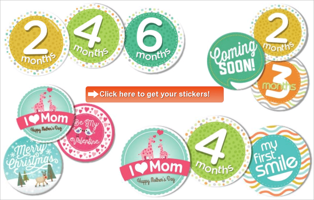 free baby milestone stickers monthly stickers