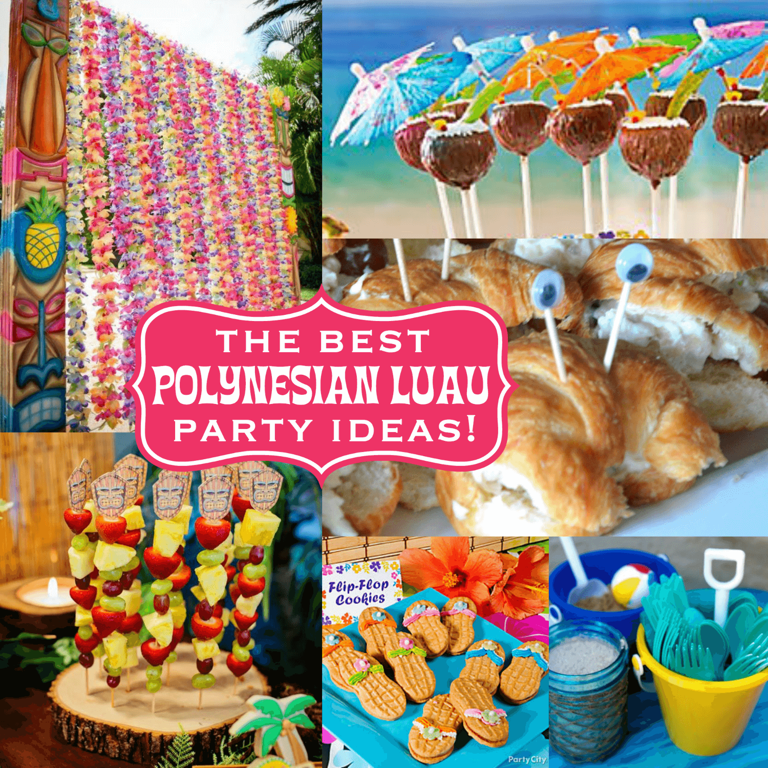 the best polynesian luau party ideas for a tiki celebration!