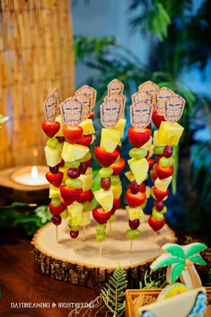 polynesian luau party ideas fresh fruit