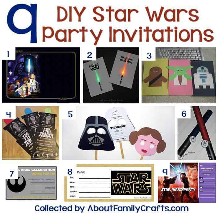 Star Wars party ideas - invitations