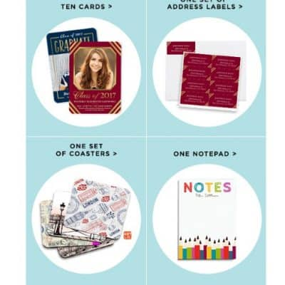 Shutterfly Choose Any Two for Free: Notepad, Set of Coaster, Set of Address Labels or 10 Cards!