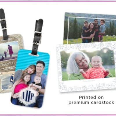 Shutterfly Choose Two Free Gifts: Two Luggage Tags or Two 8×10 Art Prints
