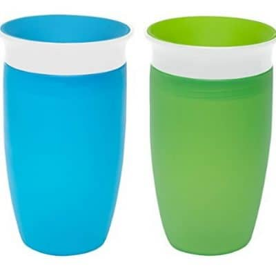 Munchkin Miracle 360 Sippy Cup, Green/Blue, 10 Ounce, 2 Count only $8.99, Free Shipping Eligible!