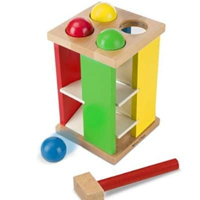Save 62% on the Melissa & Doug Deluxe Pound and Roll Wooden Tower Toy With Hammer, Free Shipping
