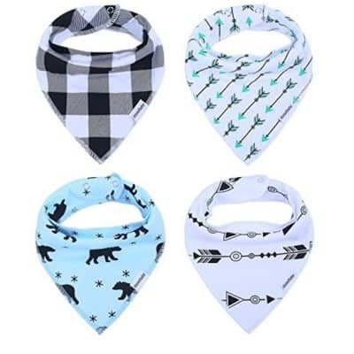 Save 54% on the Baby Bandana Drool Bibs for Drooling and Teething, Free Shipping Eligible!