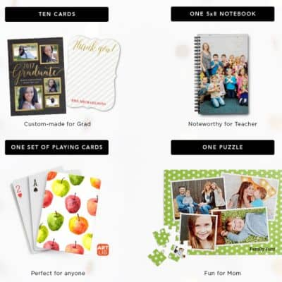 Shutterfly Promo Code: Pick One for Free – Ten Cards, One Notepad, One Puzzle or One Set of Playing Cards!