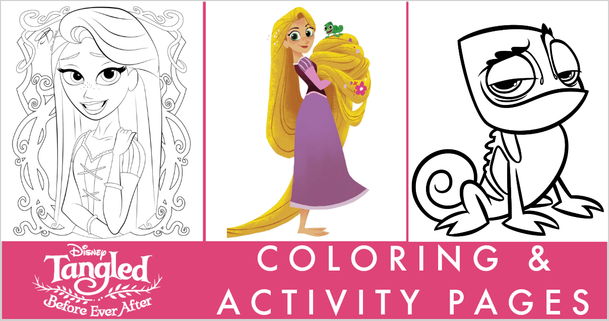 Tangled Before Ever After coloring pages activity sheets