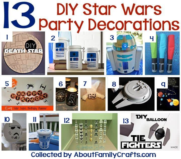 Star Wars party ideas DIY decorations