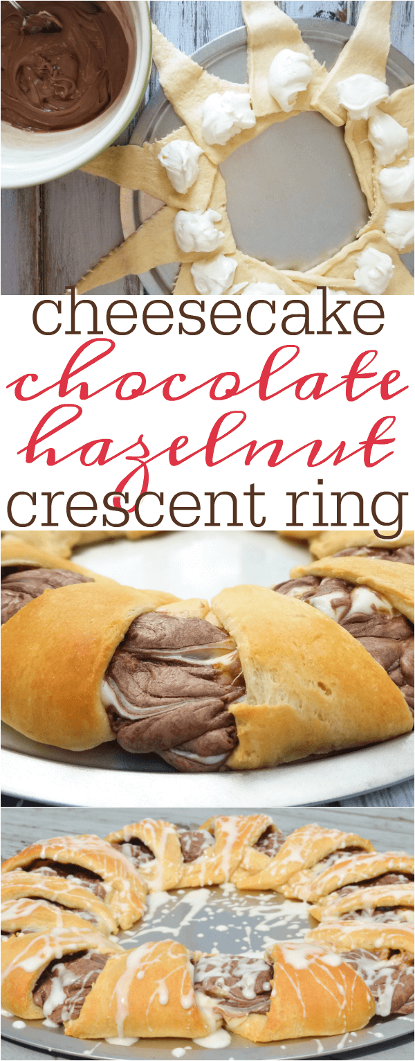 nutella cheesecake crescent ring