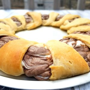 Nutella Cheesecake Crescent Ring Recipe