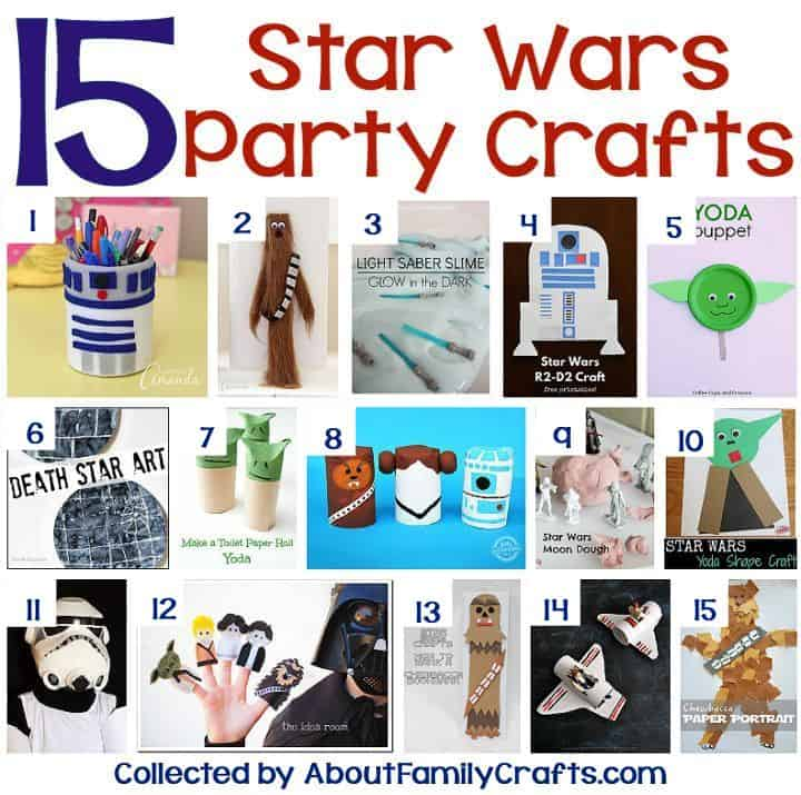 Star Wars party ideas - crafts