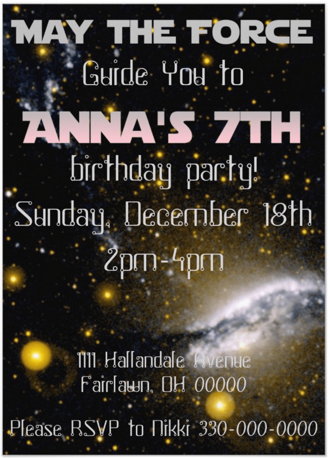 Star Wars party ideas and invitations