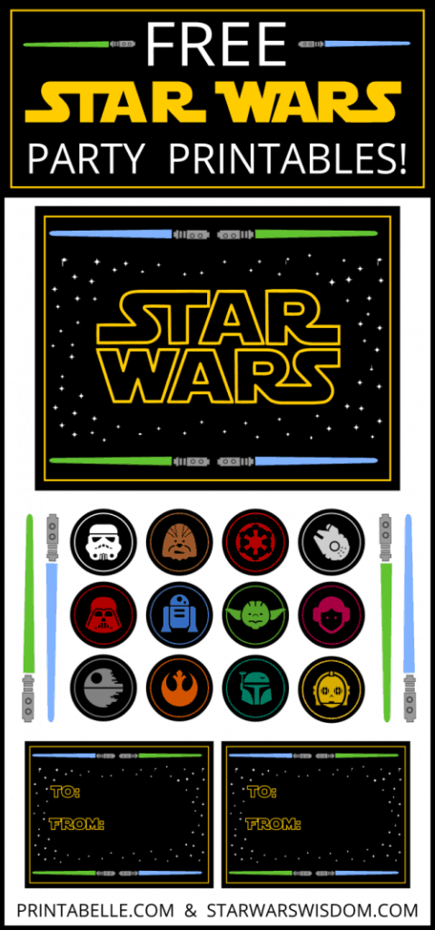 Star Wars party ideas printables