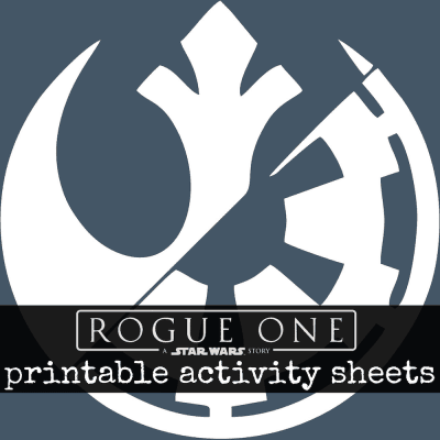 Star Wars Rogue One printable activity sheets