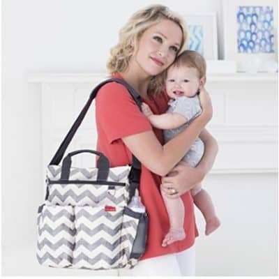 Save 20% on the Skip Hop Duo Signature Diaper Bag in Grey Chevron, Free Shipping Eligible!