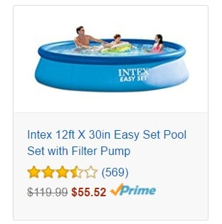 Save Up to 50% or More on Intex Easy Set Pools Today Only, Free Shipping Eligible!