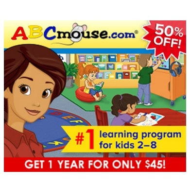 ABC Mouse Memorial Day Sale: Save 50% on One Year Subscription to ABC Mouse!