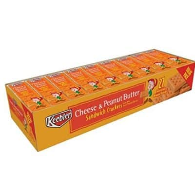 27 Count Keebler Peanut Butter Cracker Pack Cheese only $6.99, Free Shipping Eligible!