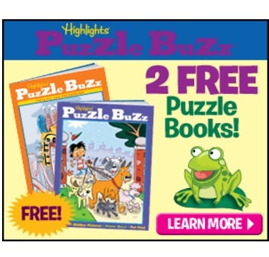 2 FREE Highlights Puzzle Buzz Books! Just pay $2.98 Shipping!
