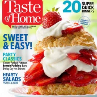 Taste of Home Magazine Subscription $4.97 (Today Only!)