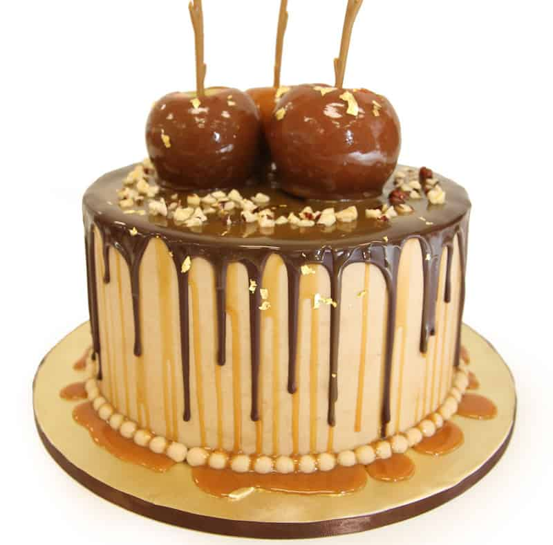 how to make a caramel apple drip cake